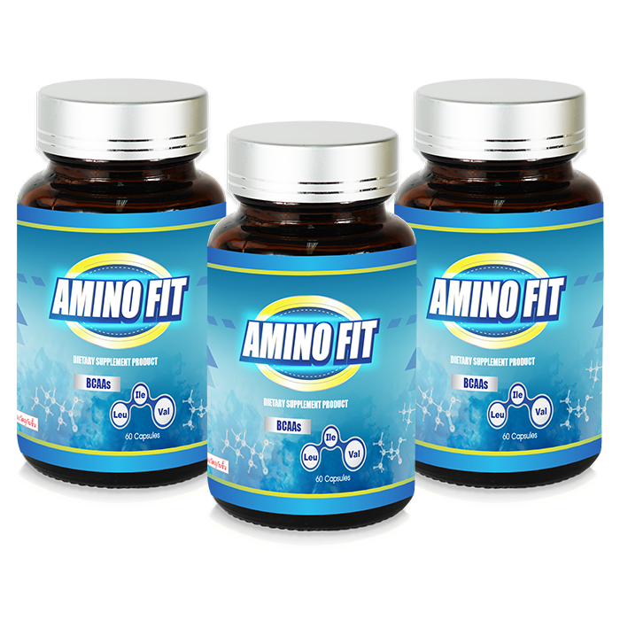 AMINO FIT DIETARY SUPPLEMENT PRODUCT  / 3 Bottle X 60  Capsule