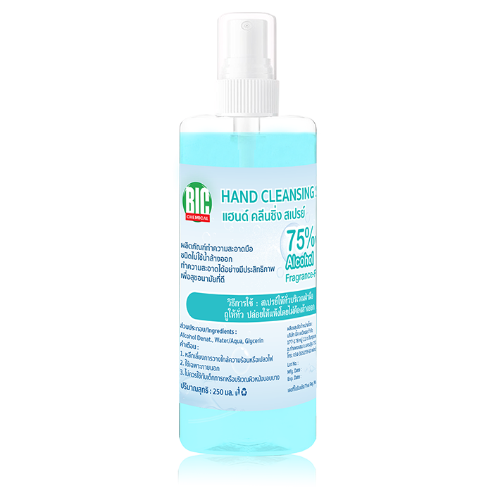 BIC Chemical Hand Cleansing Spray / 250 ml.